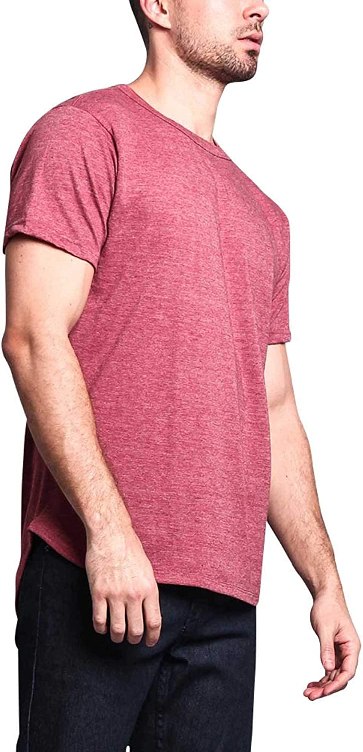 Victorious G-Style USA Solid Color Long Length Curved Hem T-Shirt