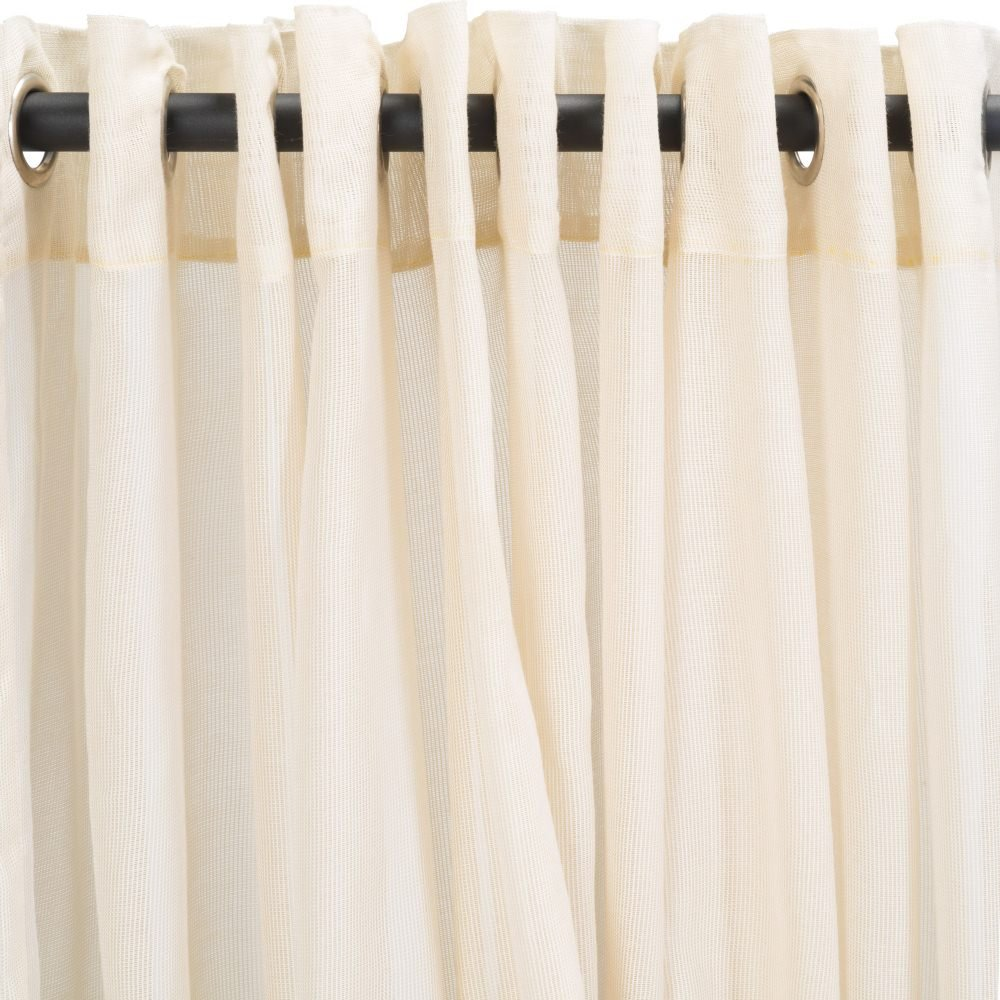 Essentials by DFO Sheer Beige Extra Wide Outdoor Curtain with Nickel Grommets 120 x 84