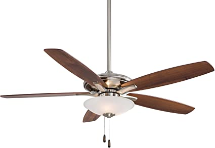 Minka aire f522 bn mojo 52 ceiling fan with light brushed nickel minka aire f522 bn mojo 52quot ceiling fan with light aloadofball Images