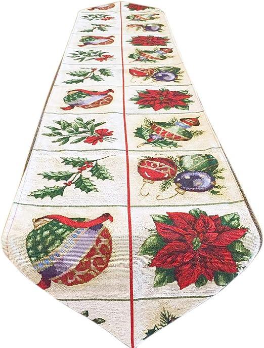 guanjunLI - Camino de Mesa de Navidad, decoración de Navidad para ...