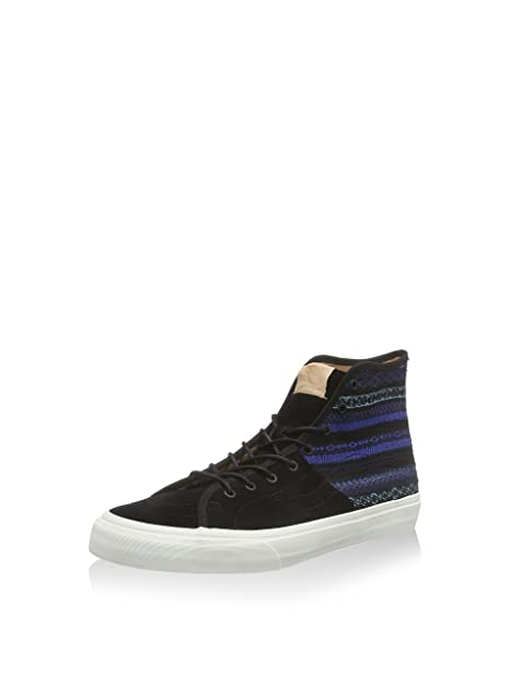 3e2b49e8a3df94 Vans SK8 Hi Decon SPT CA Italian Weave Blue Black High Tops Unisex Adult (5  Men s 6.5 Women s)  Amazon.ca  Shoes   Handbags