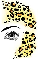 Lively Leopard Instant Facepaint temp tattoo
