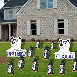 VictoryStore Yard Sign Outdoor Lawn Decorations Still Cool At 40 14 Stakes 40th