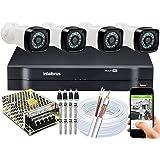 Kit 4 cameras seguranca 2mp Full HD DVR Intelbras 1104 S/HD