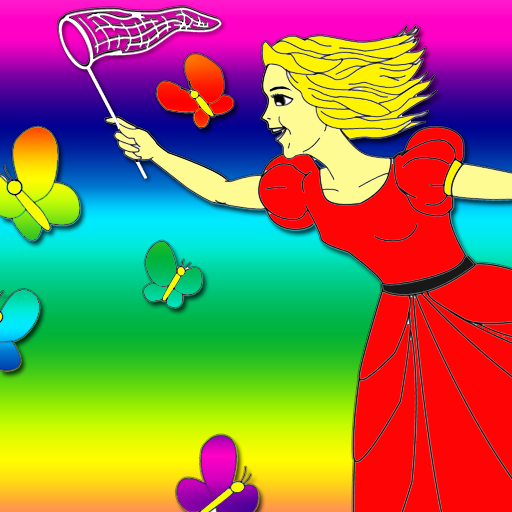 Happy Princess Coloring Book Game Barbie Colouring Games