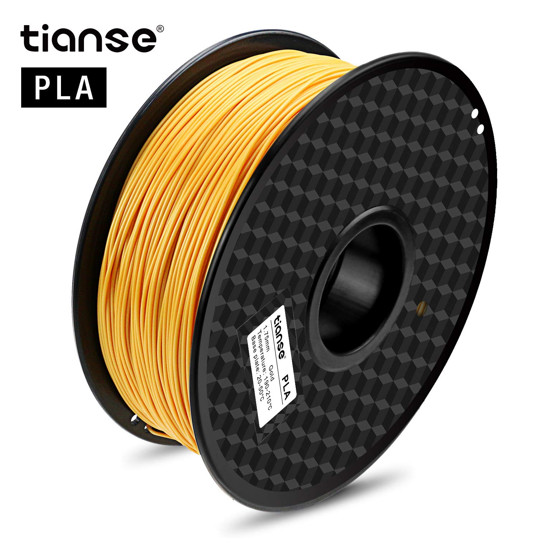 TIANSE Bronze PLA 3D Printer Filament, 1 kg Spool, 1.75 mm, Dimensional Accuracy +/- 0.03 mm