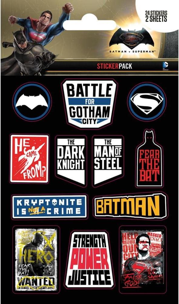Pack de pegatinas Batman VS Superman: Amazon.es: Oficina y papelería