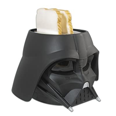 compact toaster displaying a Star Wars Sith Lord helmet