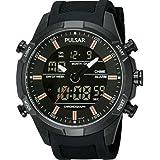 Pulsar pw6007x 1–Montre pour hommes, bracelet en caoutchouc couleur noir