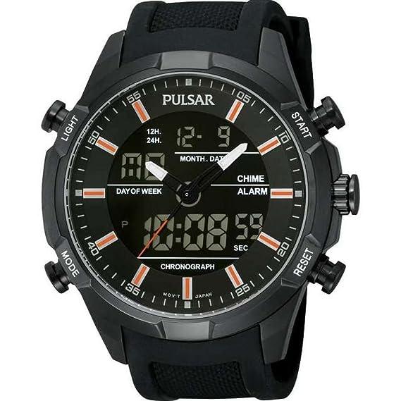 Pulsar PW6007X1 - Reloj para Hombres, Correa de Goma Color Negro: Pulsar: Amazon.es: Relojes