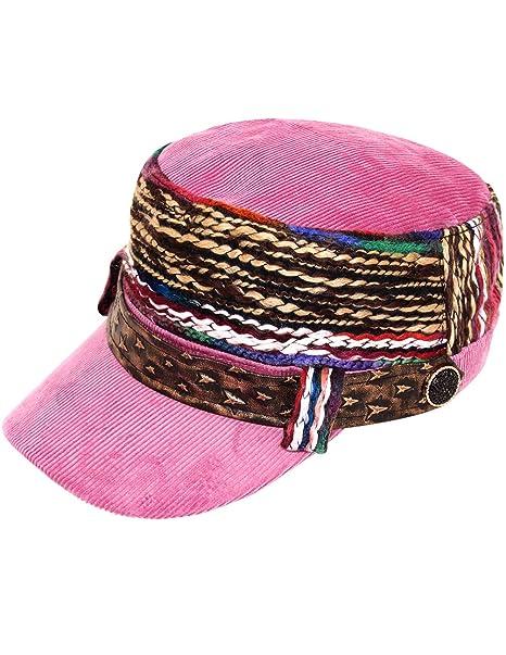Dahlia Women's Cap - Colorful Thread Corduroy Cadet Cap