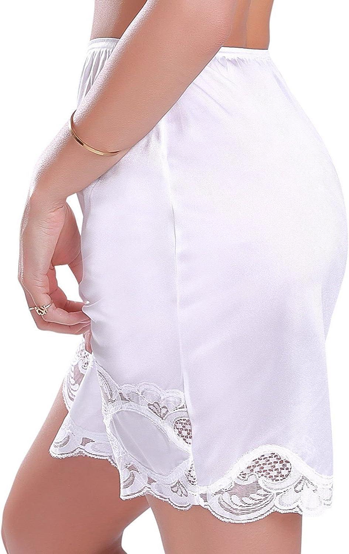 Ilusion Women/'s Long Lace Trim Skirt Slip 1817