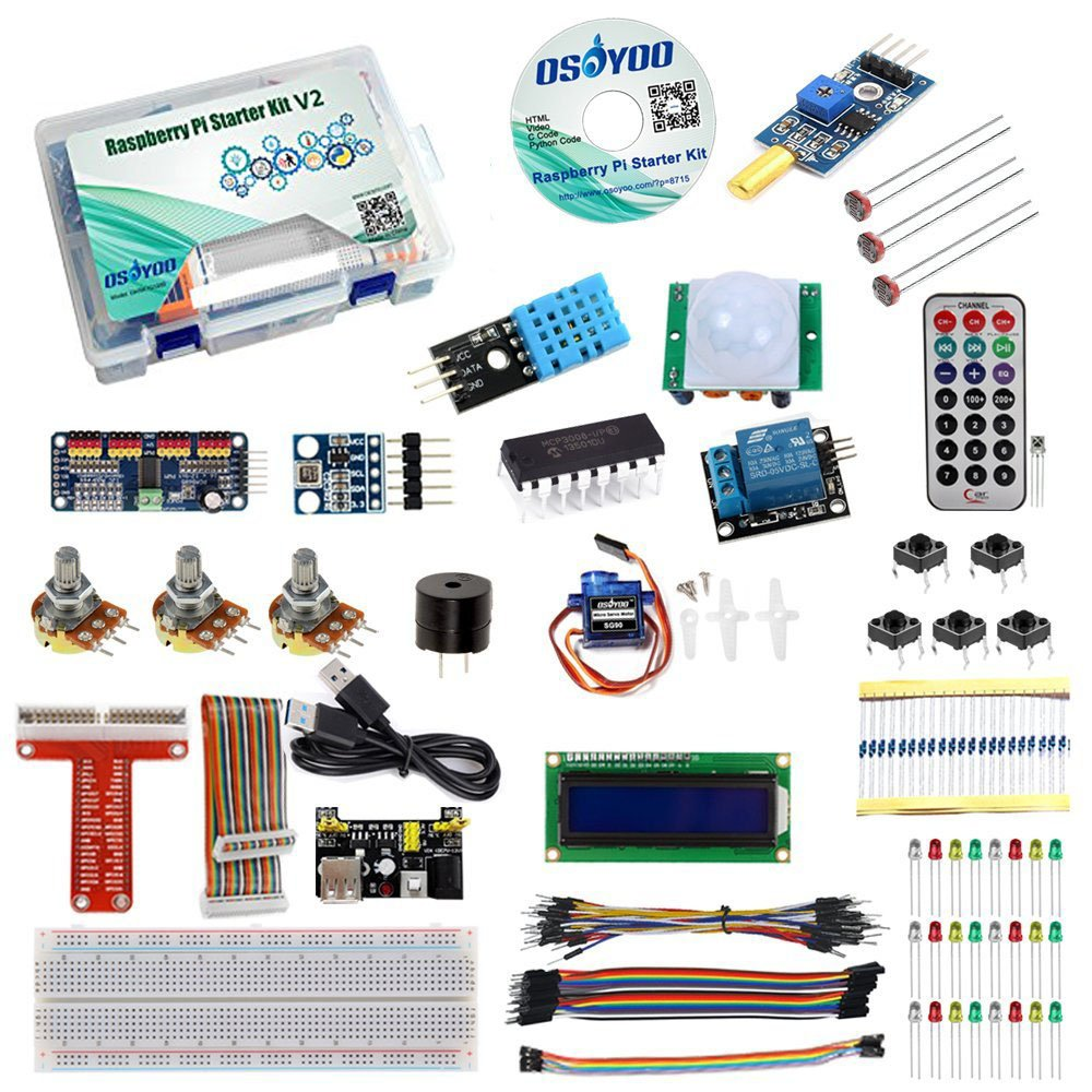 Osoyoo Raspberry Pi 3 Starter Kit Diy Electronic Rpi Learning Wiringpi Python Module For Beginner Display Pca9685 With C Code And Video Tutorial