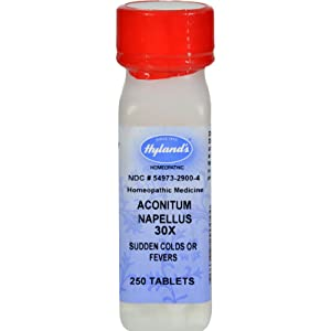 2Pack! Hyland's Aconitum Napellus 30x - 250 Tablets
