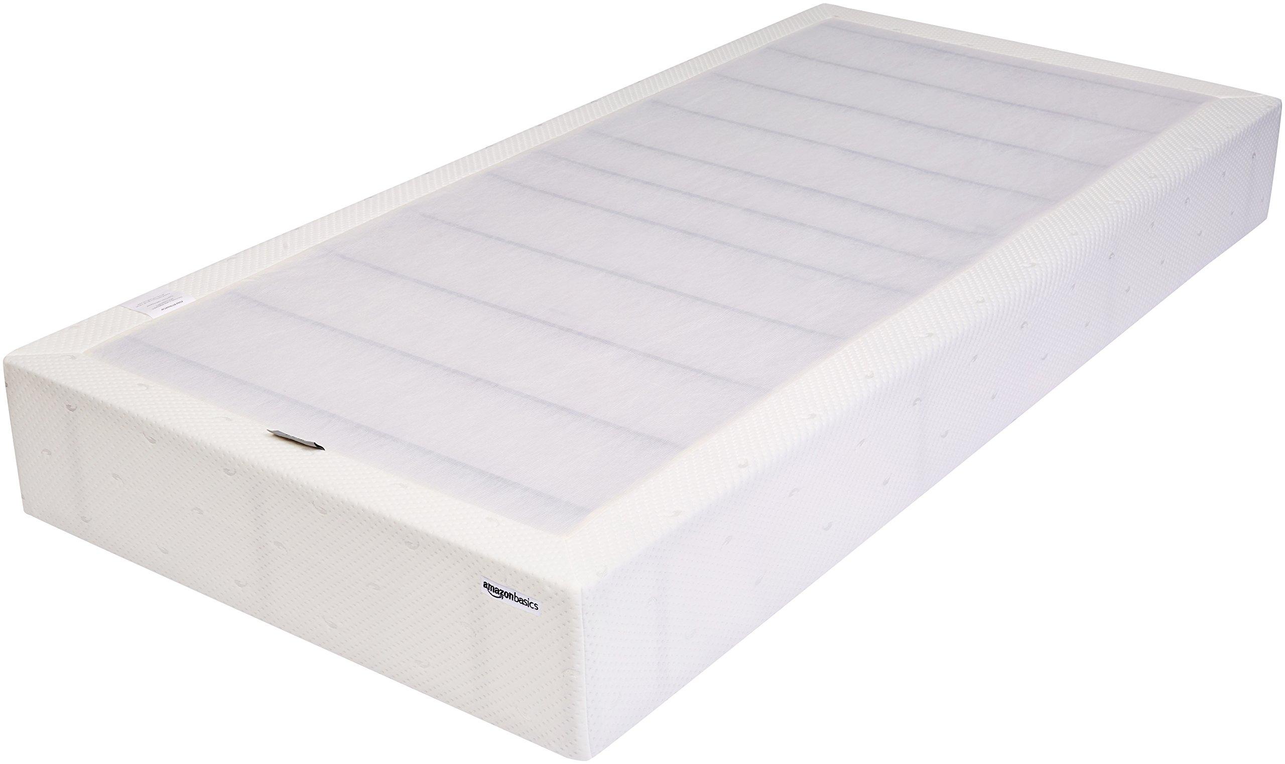 AmazonBasics Mattress Foundation / Smart Box Spring, Tool-Free Easy Assembly - 9-Inch, Twin XL