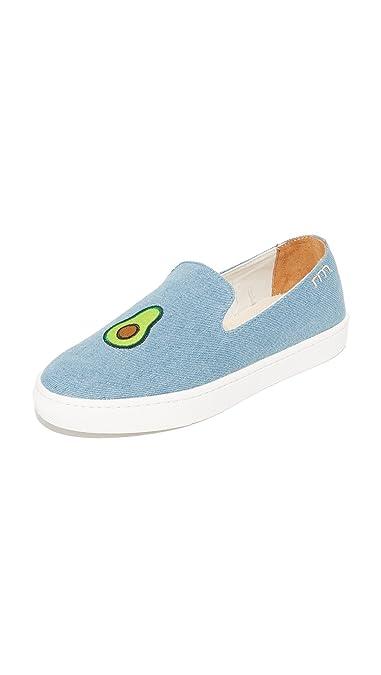 Soludos Women's Avocado Slip On Sneakers, Light Denim, 8.5 B(M) US