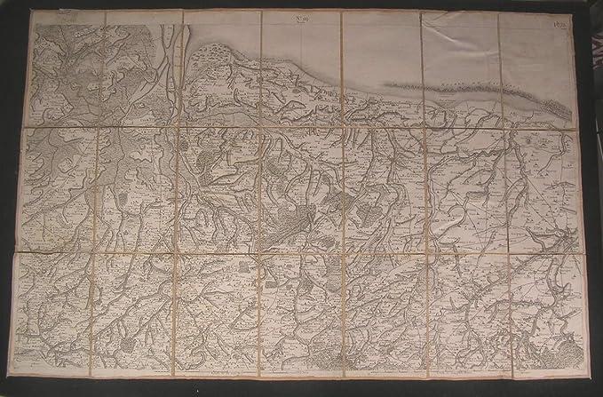 Map Of Northern France Coastline.Amazon Com France Coast Northern Normandy Ca 1810 Goujon Fine Old