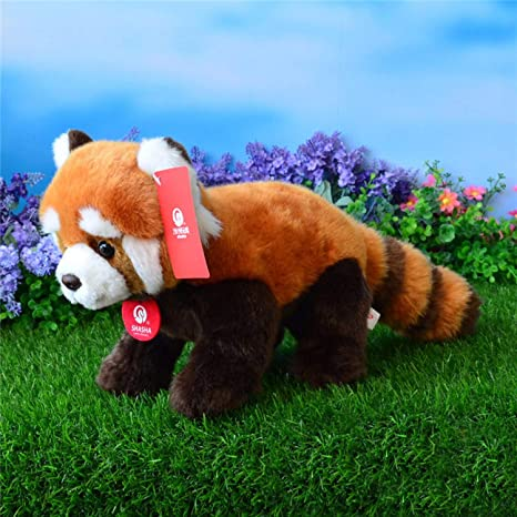 JEWH Simulation Red Panda Plush Toys - Stuffed Animal Toy Soft Lesser Panda Dolls Kids Toys