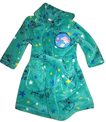 Peppa Pig George \'Fly to The Moon\' Hooded Dressing Gown 18-24MTHS ...