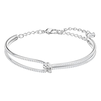 2e2ec2ad0716 Image Unavailable. Image not available for. Color  Swarovski Crystal  Lifelong Rhodium-Plated Bracelet