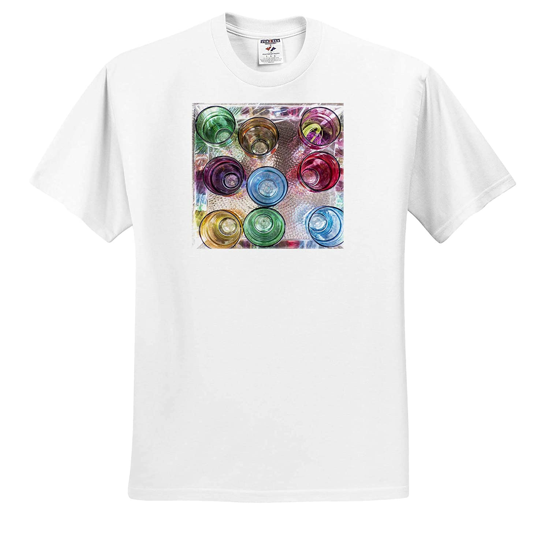 Morocco Decor Colorful Tea Glasses on Tray ts/_310452 - Adult T-Shirt XL 3dRose Danita Delimont Marrakech