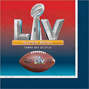 Ziggos Party Football Championship 55 LV Beverage Napkins Value Pack (32ct)
