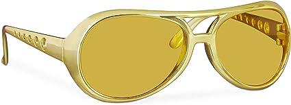 Herren Bristol Novelty BA243 Rock Star Brille Einheitsgr/ö/ße Gold
