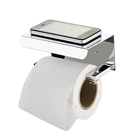 STEELERA Toilet Paper Holder in Bathroom,Toilet Paper Holder AISI 304 Stainless Steel with Mobile Stand Toilet Paper roll Stand,Toilet Tissue Holder