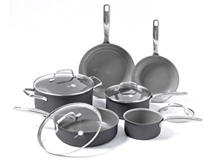 e25f4852f475 Image Unavailable. Image not available for. Color: GreenPan Chatham ceramic  Non-Stick 10Pc Cookware Set ...