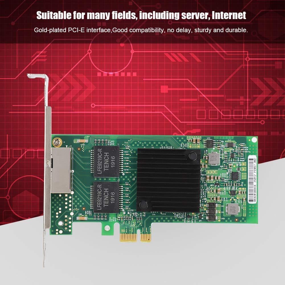 Tangxi Scheda di Rete Gigabit per Intel i350T2V2 Server PCI Express RJ45 a Doppia Porta Scheda di Rete Gigabit Ethernet per Intel I350-T2V2 i350AM2