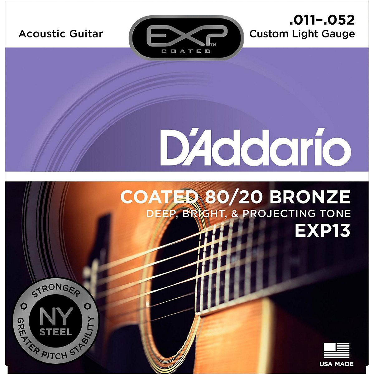 DAddario EXP10 - Juego de cuerdas para guitarra acústica de bronce y revestido en bronce, 010 - 047: Amazon.es: Instrumentos musicales
