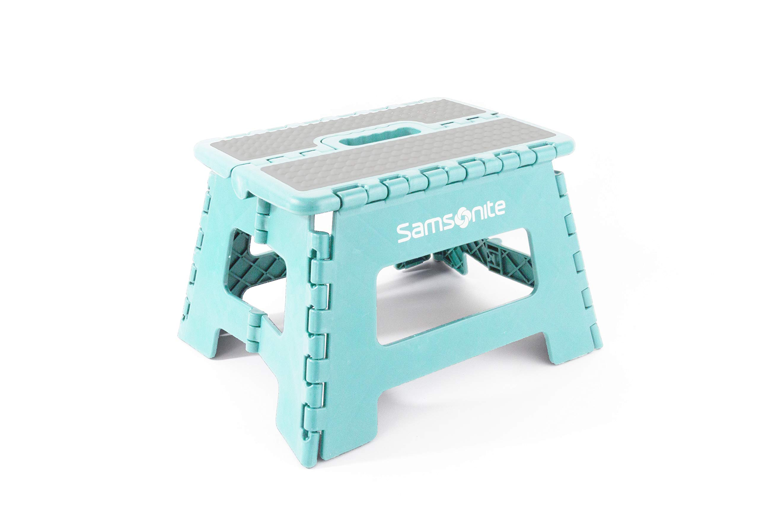 Samsonite Heavy Duty Folding Step Stool in Ocean Blue - (9'' Reg Width) by Vanderbilt Home