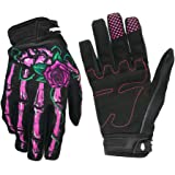 OutMall Cycling Gloves, Skeleton Full-Finger Touchscreen Bike Gloves for Men/Women Bicycle Riding, Motorcycle Racing, Airsoft Paintball, Lifting Fitness, Hunting, Climbing Outdoor Sports