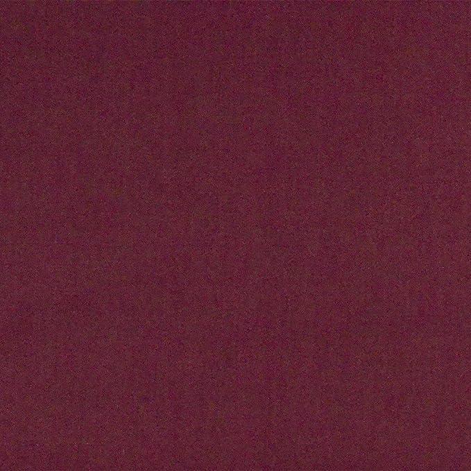 Tela de algodón 100% lisa, colores sólidos, acolchado, patchwork, manualidades, para forro, costura, costura, confección, ropa, vino Berry, ancho 114 cm, precio por ...
