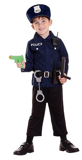 Riethmueller - Disfraz de policía para niño, talla 3-5 años ...