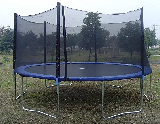 This all-in-one outdoor trampoline combo set comes complete with a  fully-enclosed safety netting and ladder for quick and easy setup. - The Top 50 Safest Trampolines: Ratings, Reviews & More Safety.com