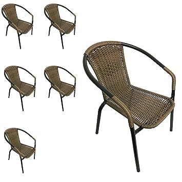 6 sillas apilables de jardín (Jardín Silla apilable con ...