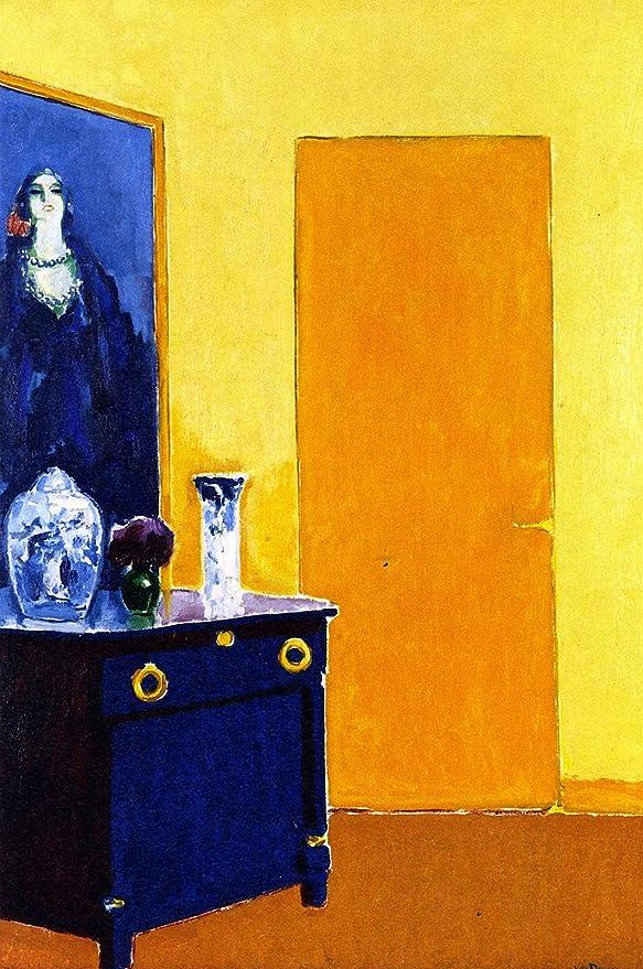 Kees van Dongen-Interior with Yellow Door-Poster