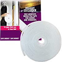 Brush Pile Draught Excluder Strip for gaps 3-5mm - 6 metre roll White