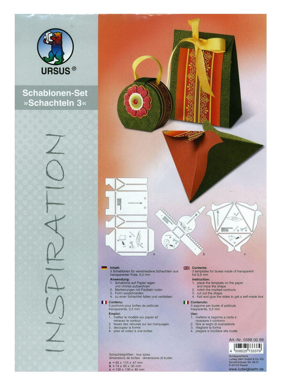 "SCHABLONEN-SET /""SCHACHTELN 4/"" Ursus"