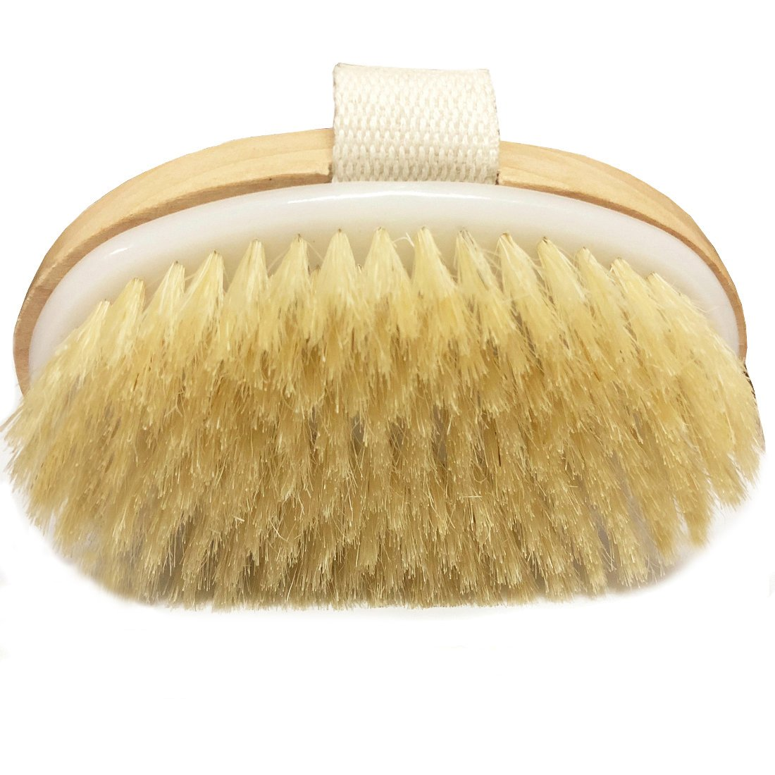 Dry Brushing Body Brush - Exfoliating Brush - Natural Bristle Dry Brush for Remove Dead Skin Toxins,Cellulite Treatment,Improves Lymphatic Functions,Exfoliates,Stimulates Blood Circulation Angel Kiss