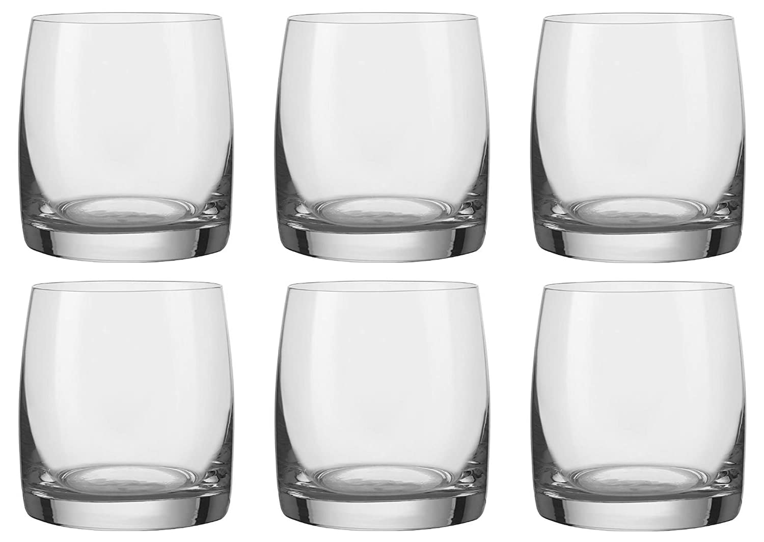 bohemia crystal ideal whiskey tumblers set of  large ml oz  - bohemia crystal ideal whiskey tumblers set of  large ml oz glassesround modern designer glassware heavy base glass old fashioned for scotchor