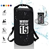 WIN.MAX Dry Bag,Waterproof Floating Dry Sack 5L 10L 15L 20L Roll Top Sack Keeps Gear Dry for Kayaking,Rafting,Boating,Swimming,Camping,Hiking,Beach,Fishing with Floating Waterproof Phone Case