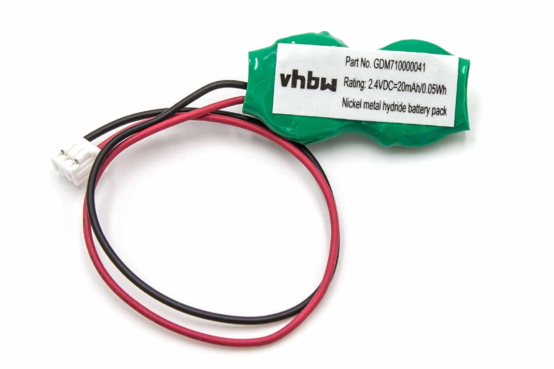 vhbw NI-MH Bios Batterie 20mAh (2.4V) Notebook Laptop Toshiba Satellite GDM710000041, P000257640, P000268840, P000309170, P71035016113 VHBW4251004681603