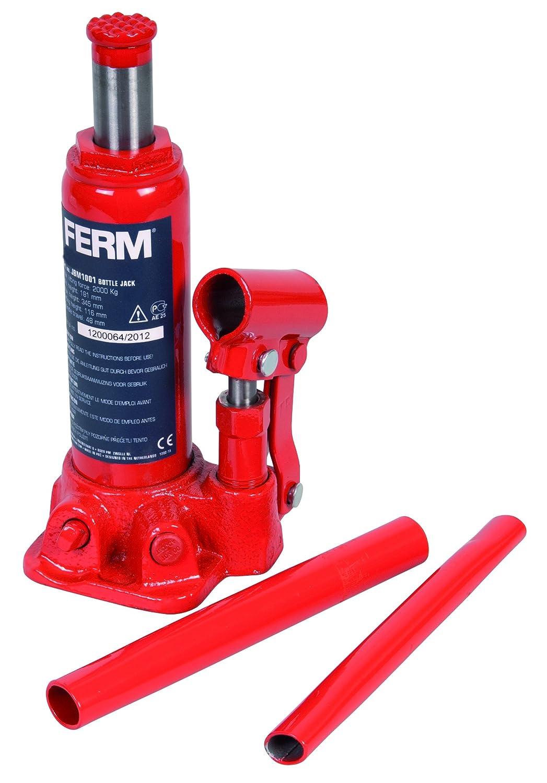 FERM JBM1001 - Cric idraulico a bottiglia Mass. 2000 Kg. Incl. custodia FERM B.V.