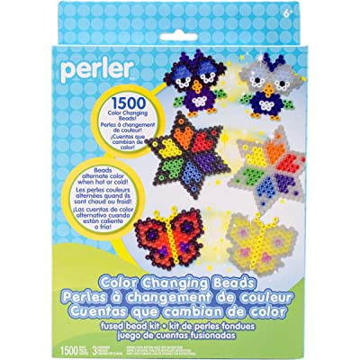 Perler Beads Color Change Beads Activity Kit Craft for Kids, 1505 pcs: Arts, Crafts & Sewing