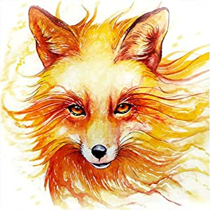 Animal Diamond Painting Kits for Adults, 5d Diamonds Art with Full Tools Accessories, Wolf DIY Arts Dotz Craft for Home Décor, Ideal Gift for Family or Self Use