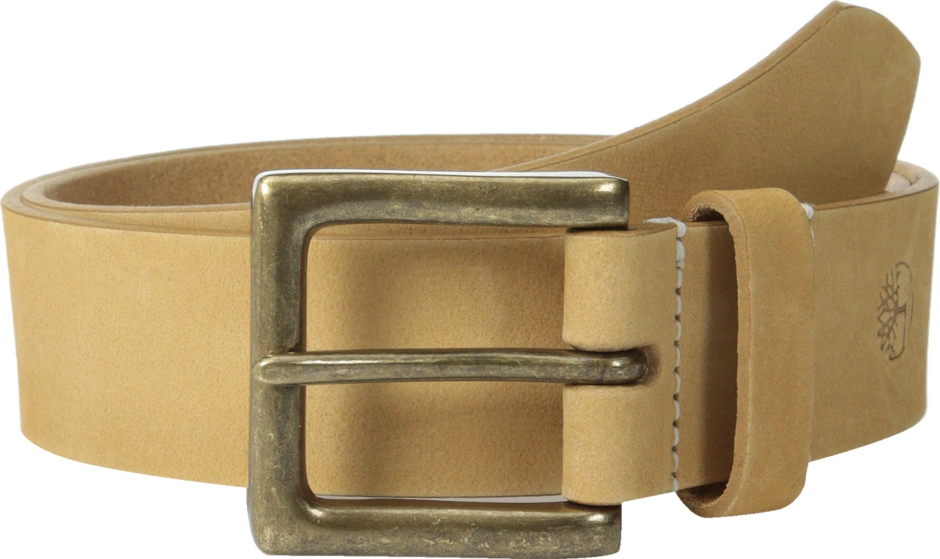 Timberland Men's 38 mm Boot Leather Belt, Wheat, 40