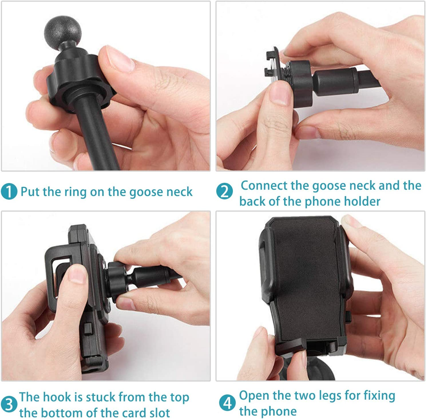 miadore Car Cup Holder Cell Phone Mount 360/° Rotatable Cradle with Flexible Long Neck Compatible for iPhone Xs XS Max X 8 8 Plus 7 7 Plus 6S 6 Plus Nexus LG Galaxy S9 S8 Edge S7 S6 Note 9