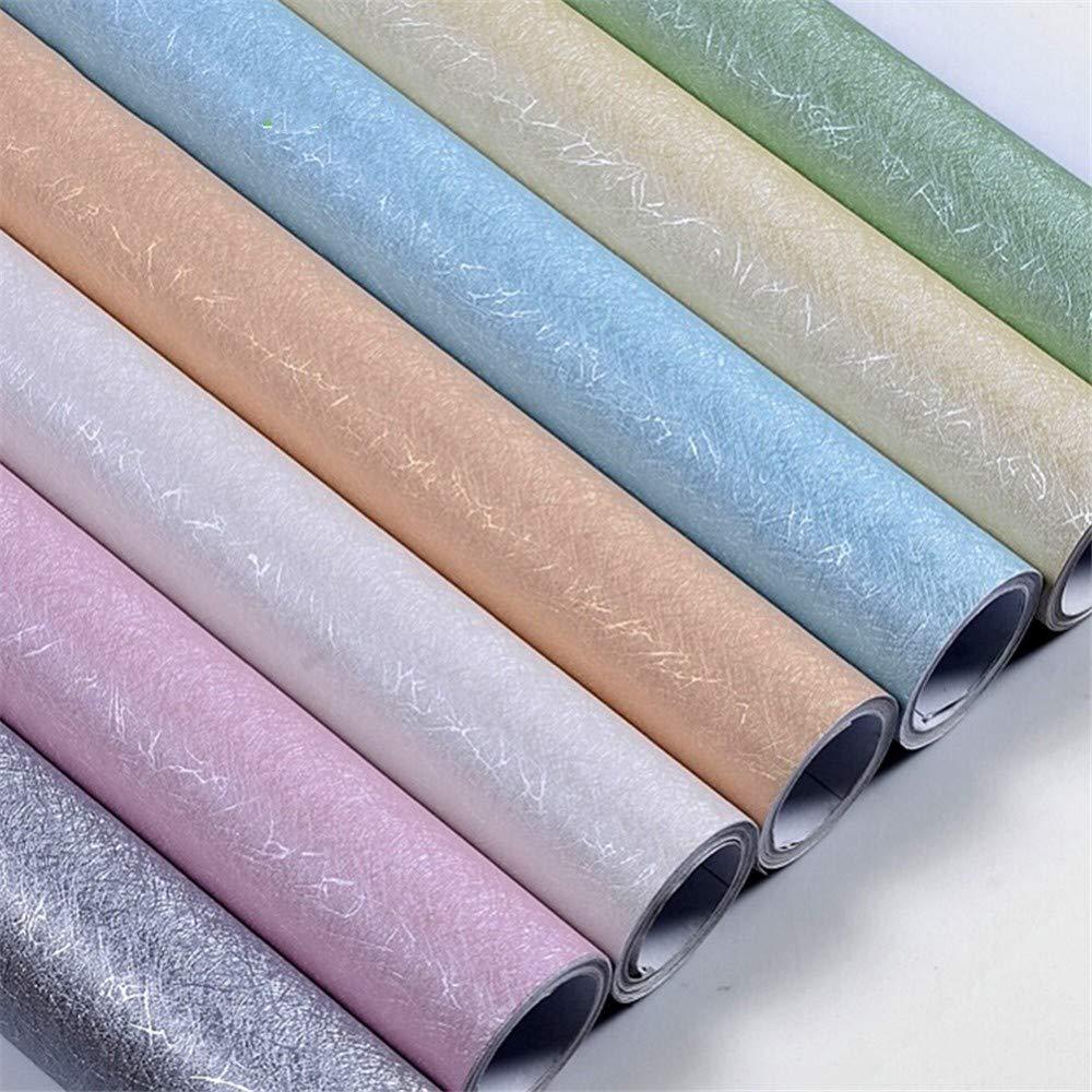 3M//5M//10M Modern Silk Texture Wallpaper PVC Vinyl Self Adhesive Film Kids Room Bedroom Stickers Muraux Waterproof Wall Stickers,Creamy White 60cmX10m